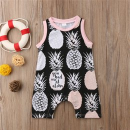 aa2a4b2581f Newborn Baby Clothes Cotton Sleeveless Romper 2018 Summer Infant Boy Girl  Pineapple Printed Romper Jumpsuit Cute Kids Clothes Boys Clothing