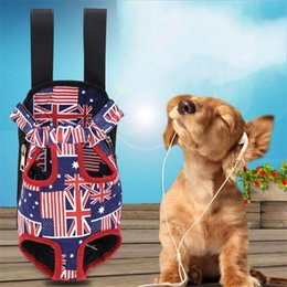 Male canvas bags online shopping - Portable Pet Backpack Adjustable Straps Canvas Dog Front Chest Backpacks Printed Leopard Camouflage Circle Diagram Puppy Bag New wb BB
