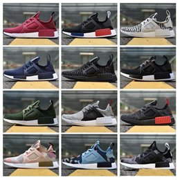 407fe55d4671d 2018 NMD XR1 RunnING ShOes Mastermind Japan Skull Fall Olive green Camo  Glitch Black White Blue zebra Pack men women sports shOes 36-45