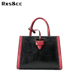 Chinese  Rxs&cc New Luxury Vintage Famous Brand Designer Women Messenger Bags Fashion Handbag Featured PU leather large shoulder bag manufacturers