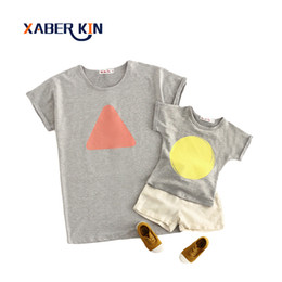$enCountryForm.capitalKeyWord NZ - Xaber Kin Cotton Mother And Daughter Clothes 2017 Summer Family Matching Outfits Short Sleeve T-shirt For Family Look Clothing