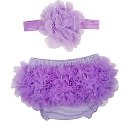$enCountryForm.capitalKeyWord UK - 4 Colors Stylish Baby Girl Ruffle Bottom Chiffon Bloomer & Headband Set for Newborn Photo Set Diaper Cover