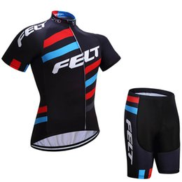 2018 Team FELT Summer Cycling Jersey Sets MTB Clothing Bicycle Clothes  Maillot Ciclismo Men Cycling bike shirts (bib)shorts 81626Y 828787faf