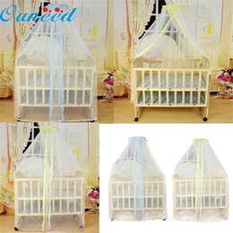 toddler mosquito net 2018 - Zero Summer Baby Bed Mosquito Mesh Dome Curtain Net for Toddler Crib Cot Canopy discount toddler mosquito net