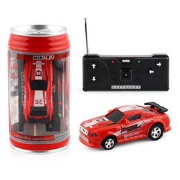remote systems Australia - 7color Mini-Racer Remote Control Car Coke Can Mini RC Radio Remote Control Racing 1:64 High-speed drift wireless remote control toy car