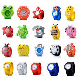 Discount ceramics clocks - Kids Watch 3D Cartoon Animal Quartz Wristwatches Sport Children Watches Gifts For Cute Baby Girl Student Clock Slap Watc