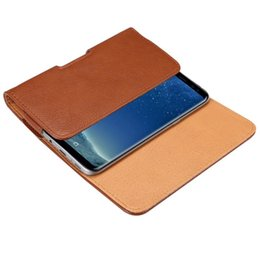 Cases for Cubot online shopping - Universal Belt Clip PU Leather Waist Holder Flip Pouch Case for Cubot J3 Rainbow X17