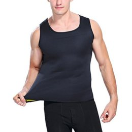 Wholesale Mens Trainers NZ - Shapers Mens Slimming Shirt Waist Trainer Corset Bodysuit Male Fat Burning Body Shapwear Vest Man Neoprene Abdomen
