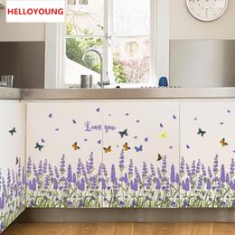$enCountryForm.capitalKeyWord NZ - DIY Wall Sticker Lavender Wallpapers All-match Style Art Mural Waterproof Bedroom Wall Stickers Home Decor Backdrop