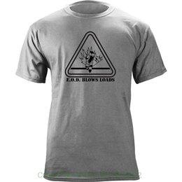 Homens Casuais Camisas de Manga Curta Camisetas Engraçadas Eod Sopra Carrega-nos Veterano Militar Clássico T-shirt venda por atacado