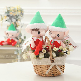 christmas decoration plush elf toys party gift 30cm cute christmas spirit doll christmas stuffed toy w7342