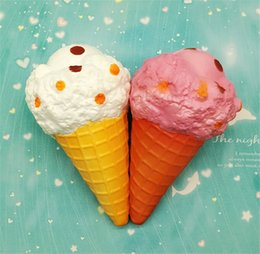 retail wholesales toys Australia - Jumbo Sprinkles Ice Cream Squishy Slow Rising Squishies Original Cone Kawaii Phone Straps Soft Scented Bread Cake Kid Fun Toys Gift