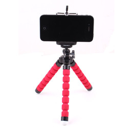 $enCountryForm.capitalKeyWord UK - Adjustable Three Legs Stand Octopus Shape Cell Phone Holder for Mobile iPhone 6 7 7 Plus Camera 3 Colors