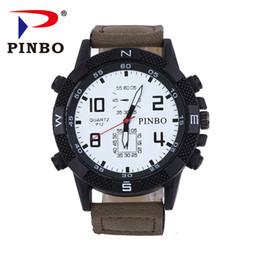 112c72f8c9c4 PINBO Nuevo listado Relojes para hombres Relojes de marca de lujo Reloj de  cuarzo Correas de cuero de moda Reloj de pulsera de deportes baratos  relogio ...