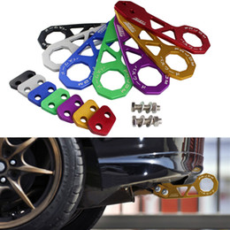 RASTP-Nouveau produit Crochet de remorquage arrière JDM Style Racing Crochet de remorquage arrière en alliage d'aluminium pour Honda Civic RS-TH004