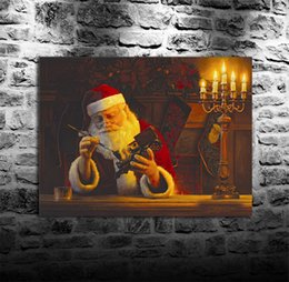 Framed Christmas Paintings Australia - Christmas Eve Touchup Santa,HD Canvas Printing New Home Decoration Art Painting (Unframed Framed)