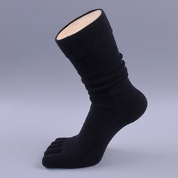 Wholesale men dress socks for sale - Group buy 5 Pairs Brand Men S Business Dress Five Finger Toe Socks High Ankle Cotton Long Sox High Quality Sokken Hot Sale