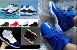 Ingrosso bambini Big boy Concord 45 Mens 11 Cap and Gown Top 11s Kids Women Scarpe da basket UNC Gamma Blue Gym Red Platinum Tint Cheap Sport Sneakers