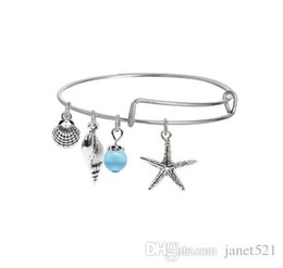 $enCountryForm.capitalKeyWord NZ - Stylish Expandable Bracelets Shell ,The Tree of Life , Hamsa Hand , Starfish Charm Silver Filled Extendable Bracelet ,