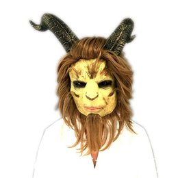 Back Hair Men Australia - Kukucos Movie 2017 Beauty and Beast Live Edition Headcover Cosplay Halloween Prince Beast Mask Short Hair