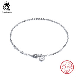 Sterling Silver Lobster Claw Clasps Australia - ORSA JEWELS Real 925 Sterling Silver Bracelets Women Perfect Polished Bracelet Lobster-claw-clasp Fashion Female Jewelry SB29