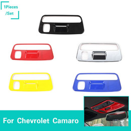 Lights for interior car online shopping - Roof Reading Light Lamp Decoration Cover Stickers Interior Accessories Color ABS For Chevrolet Camaro Up Car Styling