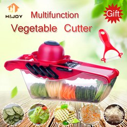 $enCountryForm.capitalKeyWord NZ - Mandoline Slicer Multifunctional Vegetable Cutter Manual Onion Potato Peeler Carrot Grater Julienne Fruit Slicer With Box &Blade