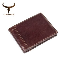 $enCountryForm.capitalKeyWord NZ - COWATHER top quality 100% cow genuine leather men wallets for men luxury dollar price short style male purse business wallet