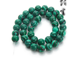 Malachite beads pendants online shopping - Natural malachite loose beads Round bead semi finished DIY bracelet jewelry accessories mm