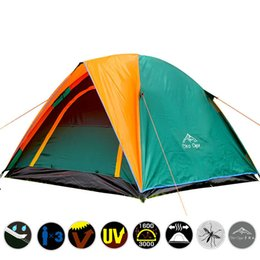 Need Fiber Australia - 3-4 Person Double Layers Beach Tent Anti-UV Sun Shade Tent Outdoor Hiking Fishing Tourist Windproof Waterproof Camping