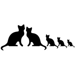 Green truck cars online shopping - HotMeiNi Colors Cat Family Of Stickers For Car Truck Bumper Auto SUV Door Laptop Kayak Vinyl Decal