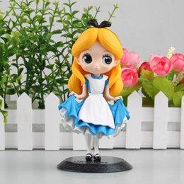 Toptan satış Alice In Wonderland Sevimli Güzel Model Karikatür Bebek PVC Çocuk için 16 cm Japon Heykelcik Anime Action Figure Koleksiyon Oyuncaklar 170536