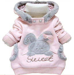 Cartoon Rabbit Hoodies Australia - Children Clothing Cartoon Rabbit Fleece Bunny Outerwear Girls Cute Clothes Hoodies Baby Kids Jacket Winter Coat roupa infantil