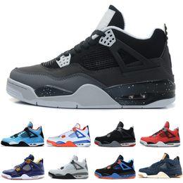 Green Money Box Australia - New 4 4s Travis Scotts Cactus Jack Mens Basketball Shoes Raptors Kaws Denim Eminem Pure Money Royalty Bred Oreo men sports sneakers designer