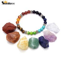 Meditation set online shopping - unligoo Hot Selling Chakra Healing Crystals Natural Rough Raw Stones and Gemstone Crystal Point Pendulum Meditation Set Sunligoo
