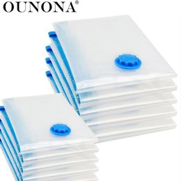 Packing Clothes For Storage NZ - OUNONA Vacuum Storage Bags Space Saver Packing Compression Storage Bags for Luggage Clothes Bedding Pillows Blanket