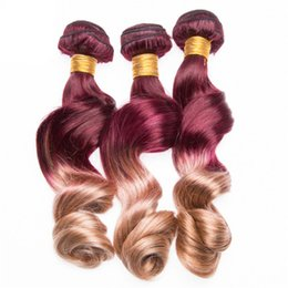 $enCountryForm.capitalKeyWord Australia - New Arrive Loose Wave 99j and 27 Ombre Hair Extension 3 Bundles Deals Brazilian Virgin Hair Weaves Hair Extensions For Sale