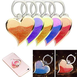 Rotating Tablet Stand Australia - Rotating 360 Liquid Finger Grip Bling Glitter Heart Universal Cell Phone Luxury Ring Hook Holder Stand For iphone 6 7 8 Samsung tablet pc