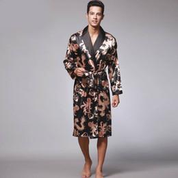 7260f8cba1 Couple Robes Canada - Luxury Spring Silk Satin Couple Pajamas Men Robes  Women 3 Piece Set