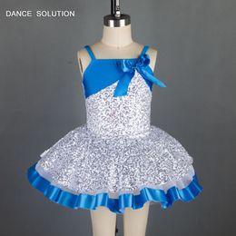 $enCountryForm.capitalKeyWord NZ - White Sequin Spandex Bodice Ballet Tutu Girl Stage Performance Ballet Costume Child Tutu Camisole