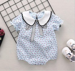 99a51c4b0a4 baby clothing New summer baby kids climbing little strawberry print romper  baby kids 100% cotton girl cute sleeveness romper free ship