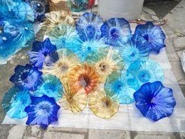 $enCountryForm.capitalKeyWord Canada - Longree Glass Wall Plates 100% Handmade Colored Murano Art Bowl Decorative 10 Pieces MOQ Free Shipping for Office Home Church Deco
