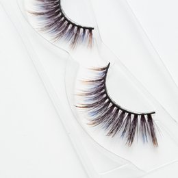 $enCountryForm.capitalKeyWord NZ - Seashine Factory sell create your own 3d colorful silk eyelashes false eyelashes fancy color lashes free shipping C8