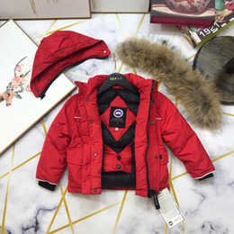 Jacket hat baby online shopping - Autumn And girls Winter New Children Long Down Cotton Girl Hat Cotton padded Clothes Loose Coat set baby coats jackets