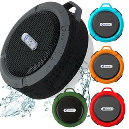 waterproof mp3 player for shower NZ - C6 IPX7 speaker Sports Shower Portable Waterproof Wireless Bluetooth Speaker Suction Cup Handsfree Voice Box for iphone 6 7 8 Samsung pc