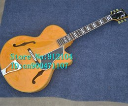 $enCountryForm.capitalKeyWord NZ - free shipping new arrived hollow F hole electric guitar or acoustic guitar in yellow with mahogany body made in China F-3056