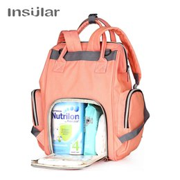 mother changing diaper UK - Insular Baby Diaper Changing Backpack Mother Travel Bag Baby Nappies Handbag Thermal Bag for Strollers