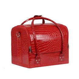 Professional travel makeuP box online shopping - Homeda Cosmetic Bag Makeup Travel Professional Make Up Box Brush Necessaries Estojo De Lapis Maleta De Maquiagem Necessary Y248
