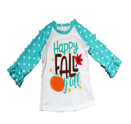 classic car novelties 2019 - Halloween Girls T-shirt Baby girls gift summer children tops flower Long Sleeve letter car dot pattern clothes discount