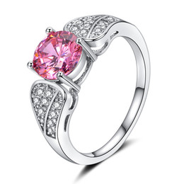 Platinum Product online shopping - 2018 new products European and American fashion foreign trade violence style jewelry colored zircon plated platinum ring JZ34